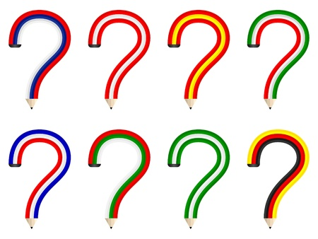 question pencils Vector