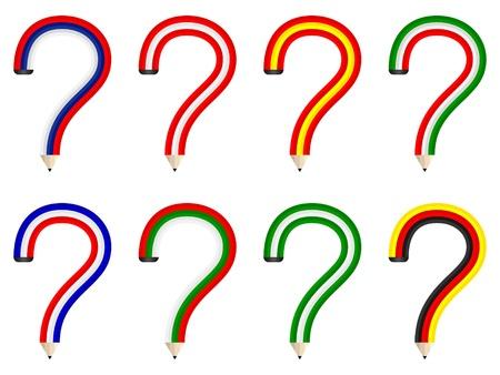 question pencils Stock Vector - 10806111