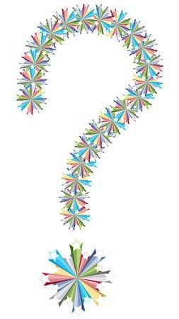 whose: punto interrogativo colorate