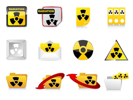 radiation icons Stock Vector - 10806010