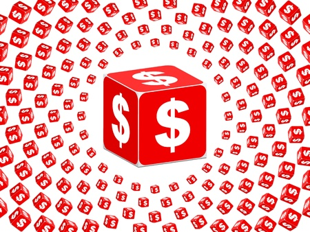 boxes with dollar sign on it  Vector