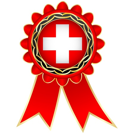 swiss flag: switzerland medal Illustration