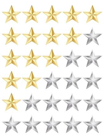 rating stars  Stock Vector - 10806017