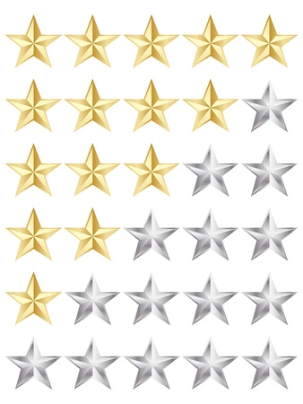 rating stars Stock Vector - 10806017