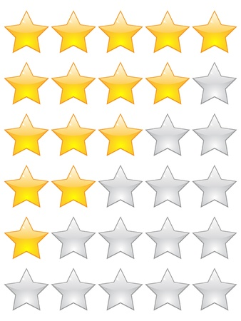 rating stars Stock Vector - 10806011