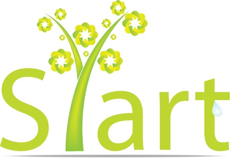 eco notice: start word  Illustration