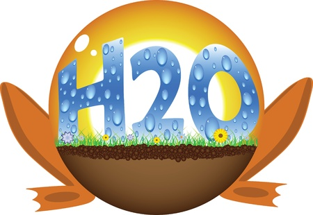 h20: sunshine ball with h2o text