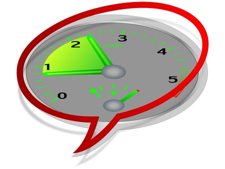 Tachometer - revving  Stock Vector - 10805594