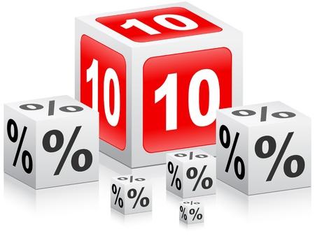 ten percent discount  Stock Vector - 10805989