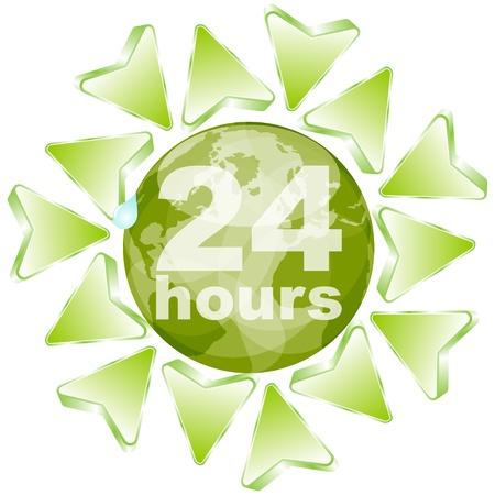 work worker workforce world: twenty hours concept
