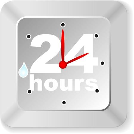 twenty hours button Stock Vector - 10806102