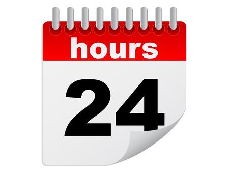 twenty four hours Stock Vector - 10806342