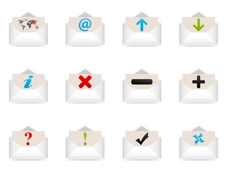 web icons envelope  Vector
