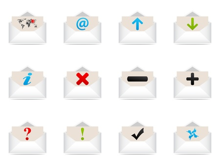 web icons envelope  Vector