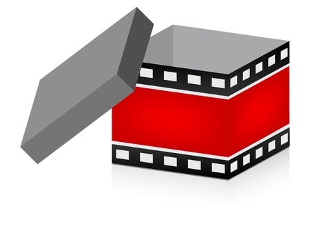 open box with filmstripe texture Stock Vector - 10806070