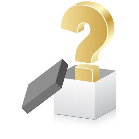 whose: white box aperto con punto interrogativo