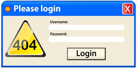 error login Stock Vector - 10806334