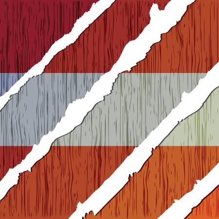 austrian: austrian flag wooden texture  Illustration