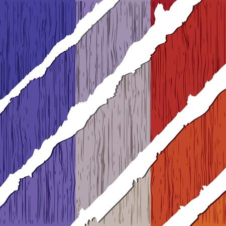 france flag wooden texture Stock Vector - 10805815