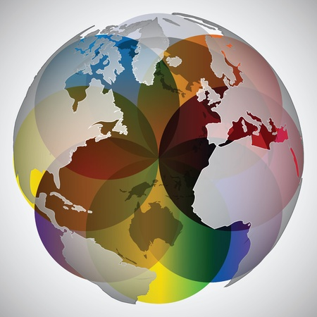 colorful world globe Vector
