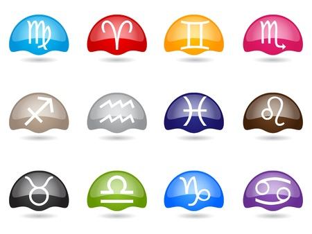 zodiac buttons Stock Vector - 10805804
