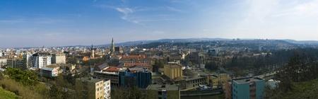 cluj: panoramic view of cluj-napoca Stock Photo