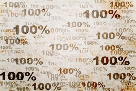 onehundred: one-hundred percent old background  Stock Photo