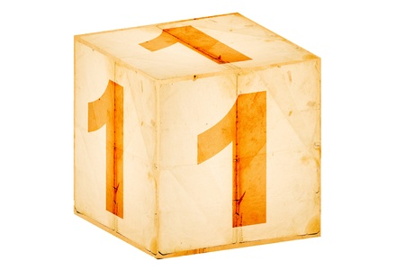 number one old box isolated on white Stock Photo - 10962000