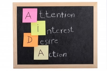 aida concept on blackboard Stock Photo