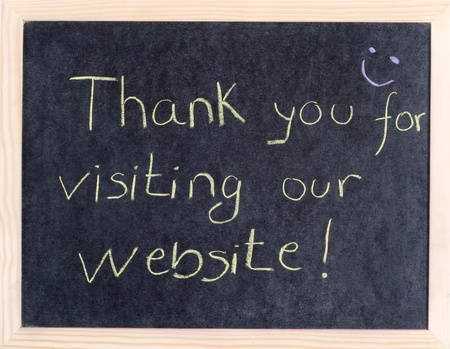 thank you for visiting our website Stock Photo - 10961880