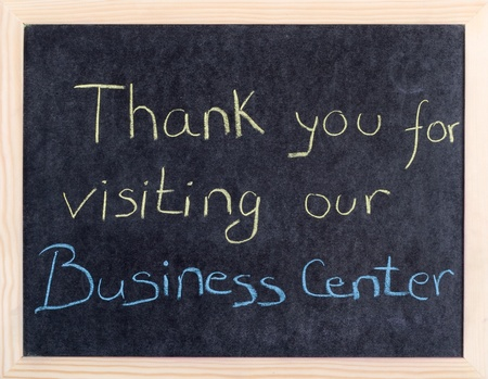 thank you for visiting our business center Stock Photo - 10961871