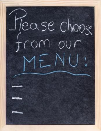 menu on blakboard photo