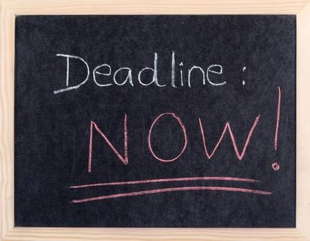 test deadline: now deadline written on blackboard