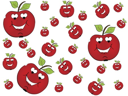 apple in love Vector