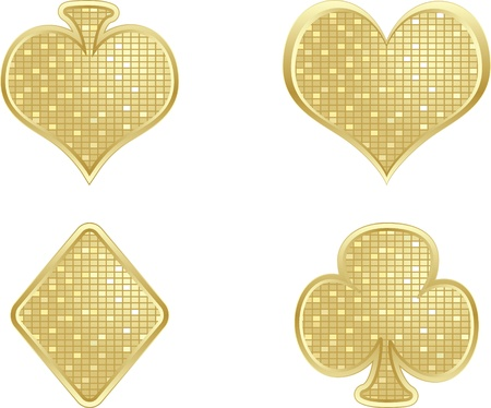 golden poker element Vector