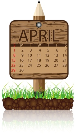 calendar banner april Stock Vector - 11383383