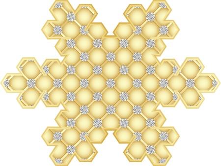 crystalline: snowflake  Illustration