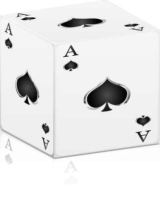 straight flush: games card ace Illustration
