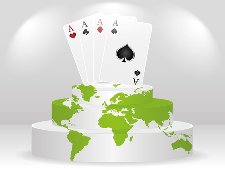 poker element - aces Vector