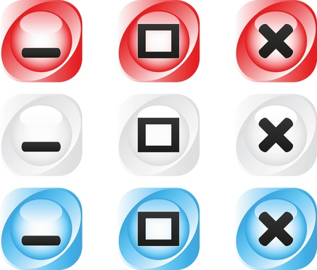 web buttons Stock Vector - 11527080