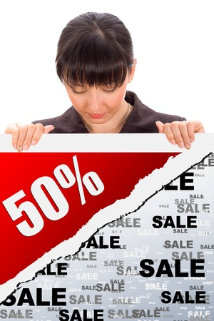 fifty percent discount photo