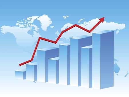 3d business chart Stock Vector - 11527101