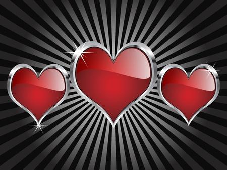 Casino elements - hearts  Vector