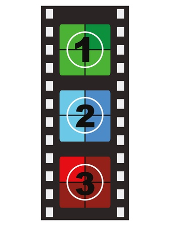 35mm film motion picture camera: Filmstrip Illustration