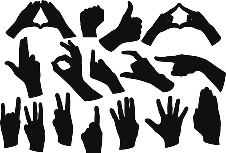 ok sign language: hands shape Illustration