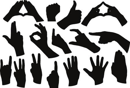 manos la forma