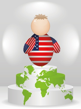 buddy: american buddy on podium Illustration