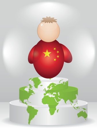 buddy: china buddy on podium