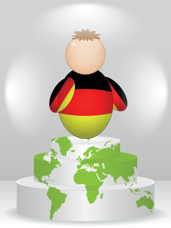 buddy: german buddy on podium Illustration