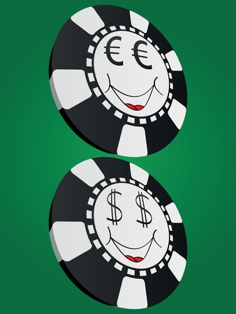 american roulette: poker chip